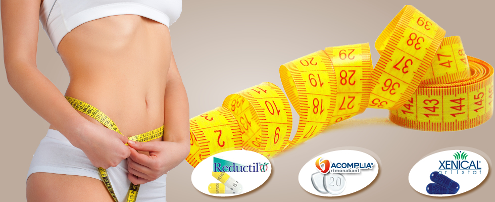 weight loss products: reductil meridia, xenical, acomplia